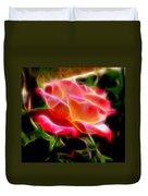 Glowing Rose Duvet Cover