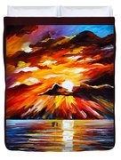 Glowing Sun Duvet Cover by Leonid Afremov