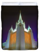 Glowing Temple Duvet Cover