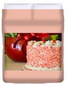 Gluten Free Peppermint Cake Duvet Cover
