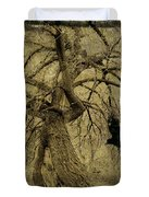 Gnarled And Twisted Tree With Crow Duvet Cover