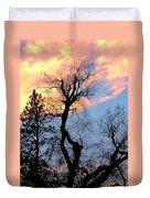 Gnarled Tree Silhouette Duvet Cover