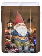 Gnome On A Swing 2 Duvet Cover