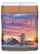 Go Broncos Colorado Country Duvet Cover