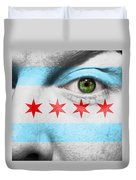 Go Chicago Duvet Cover by Semmick Photo