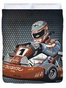 Go-kart Racing Grunge Color Duvet Cover by Frank Ramspott