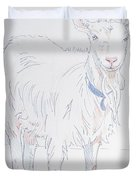 Goat Drawing Duvet Cover