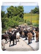 Goat Herd Duvet Cover