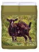 Goat Piggybackers Duvet Cover