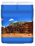 Goblin Valley Pano Duvet Cover
