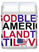 God Bless America Duvet Cover