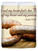 God Is My Strength Duvet Cover