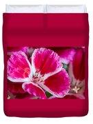Godetia Pink And White Flower Duvet Cover