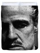 Godfather Marlon Brando Duvet Cover by Tony Rubino