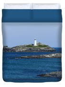 Photographs Of Cornwall Godrevy Lighthouse Duvet Cover