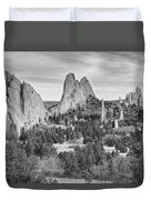 Gods Colorado Garden In Black And White    Duvet Cover