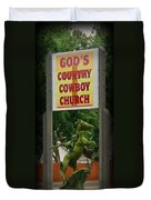 Gods Country Cowboy Church Duvet Cover