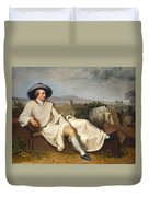 Goethe In The Roman Campagna Duvet Cover