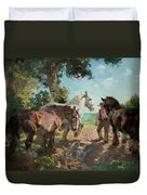 Going To Pasture Duvet Cover