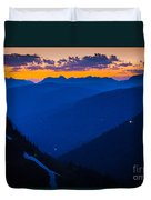 Going-to-the-sun Sunset Duvet Cover