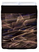 Gold Abstract Lights Duvet Cover