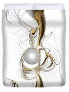 Gold And Pearl Duvet Cover