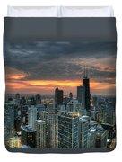 Gold Coast Sunset Duvet Cover