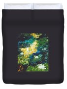 Gold Fish Pond Duvet Cover