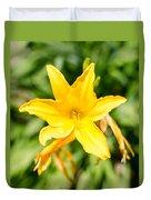 Gold Flower Duvet Cover