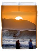 Gold Kaena Sunset Duvet Cover