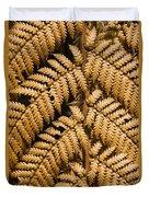 Gold Leaf Fern Duvet Cover