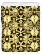 Gold Metallic 16 Duvet Cover