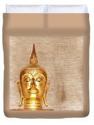 Gold Painted Buddha Statue Duvet Cover
