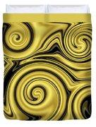 Gold Swirl Duvet Cover