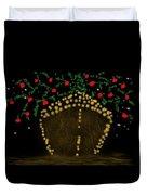 Golden Apple Ship Duvet Cover