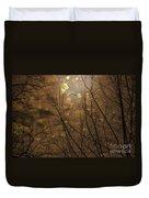 Golden Autumn Abstract Sky Duvet Cover