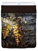 Golden Autumn Fern Duvet Cover