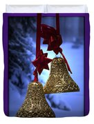 Golden Bells Purple Greeting Card Duvet Cover
