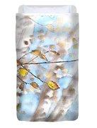 Golden Birch Duvet Cover