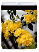 Golden Blooms One Duvet Cover