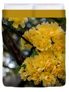 Golden Blooms Two Duvet Cover