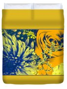 Golden Blossoms Pop Art Duvet Cover
