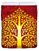 Golden Bodhi Tree No.1 Duvet Cover