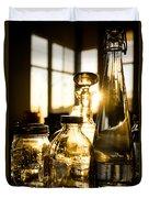 Golden Bottles And Mason Jars Duvet Cover