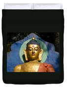Golden Buddha Duvet Cover by Nila Newsom