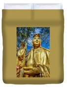 Golden Buddha Statue Duvet Cover