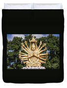 Golden Buddha With Many Arms Duvet Cover