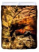 Golden Caverns Duvet Cover