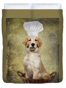 Golden Chef Duvet Cover by Susan Candelario