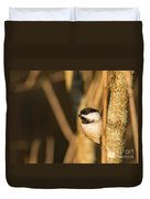 Golden Chickadee Duvet Cover
